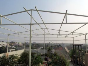 Shade house structure after painting