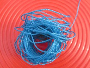 UV resistant string for tying shade cloth
