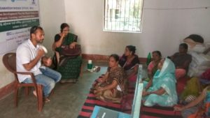 Participants listening attentively on day 2 of urban farming training