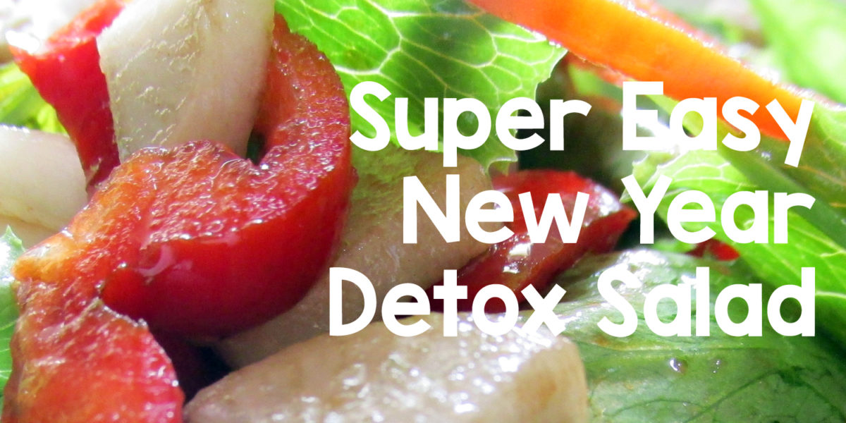 New Year Detox Salad from your Garden