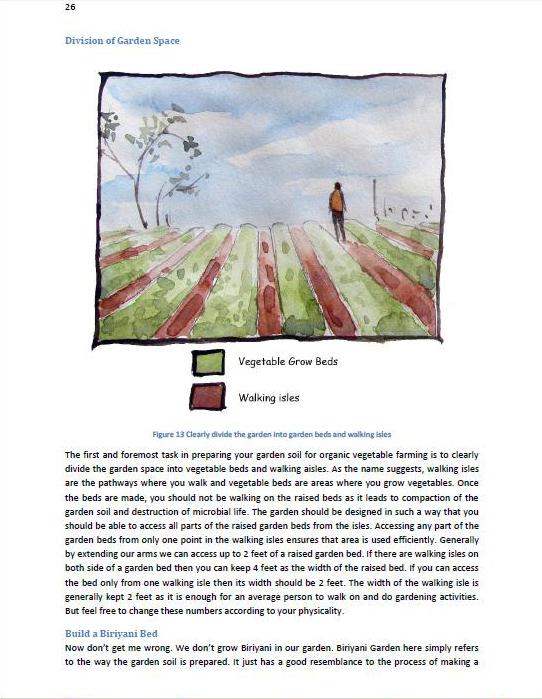 organic urban farming book page sample