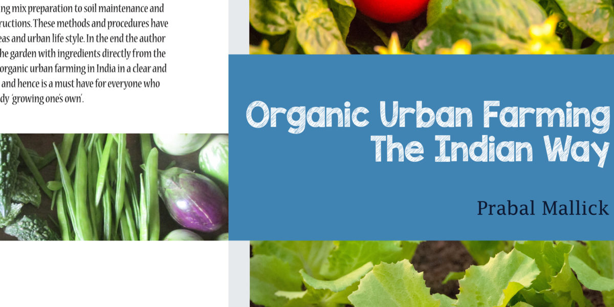 Printed book on organic urban farming
