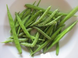 Harvested Cluster Beans Grown in Containers