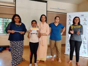 Kids receiving certificates