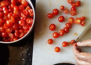 Cut Tomatoes into halves